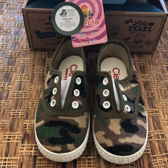 CIENTA Other - CIENTA Slip on Camaflage Kids Sneakers